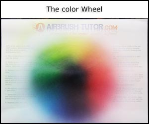 Airbrush color wheel