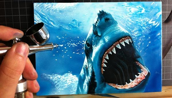 airbrushed shark