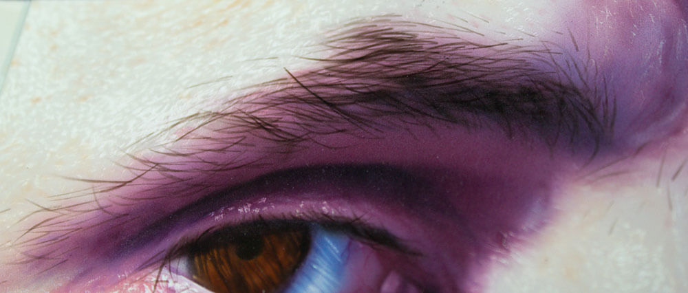 airbrushed eyebrow