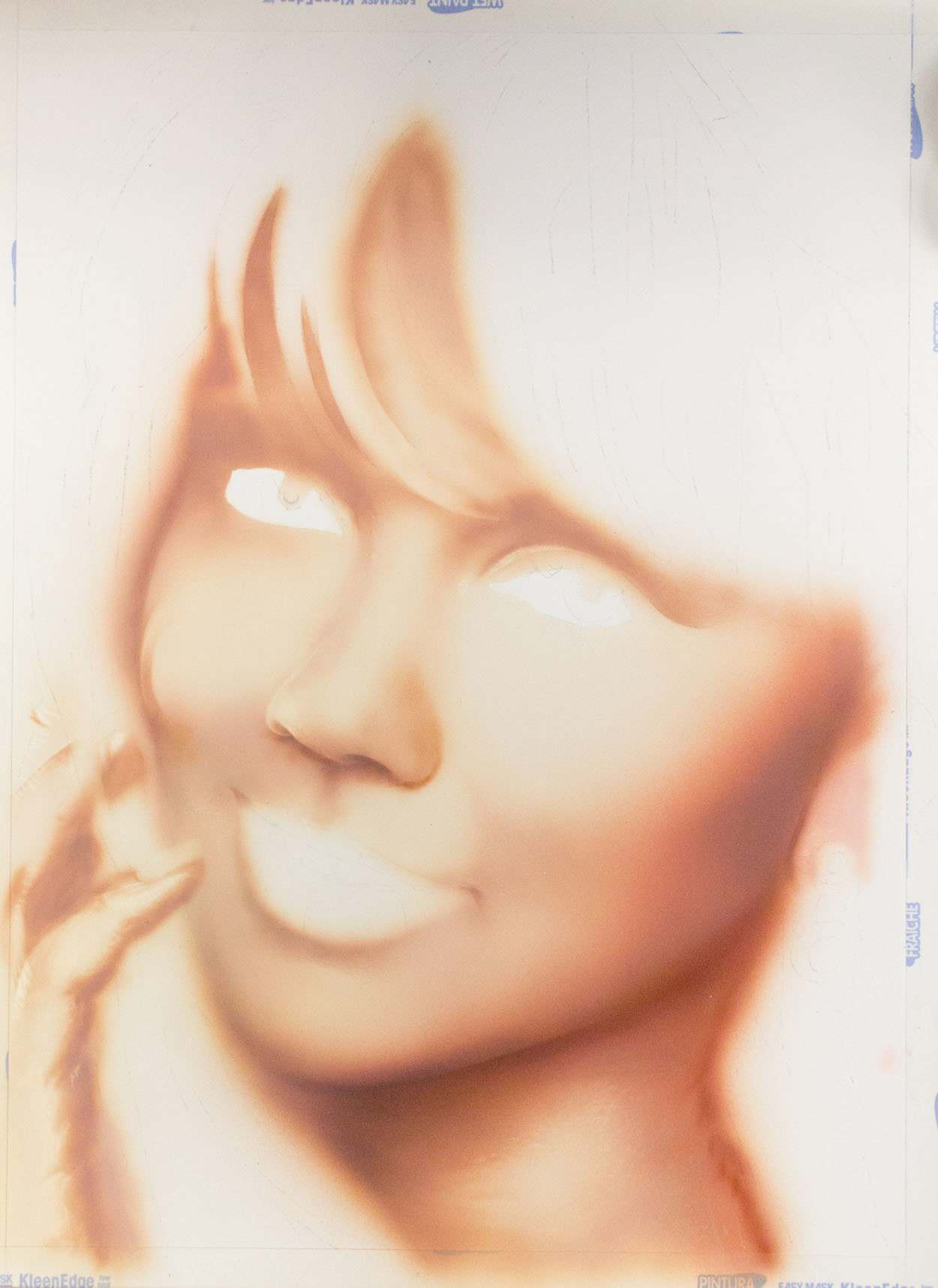 Airbrush portrait step 4