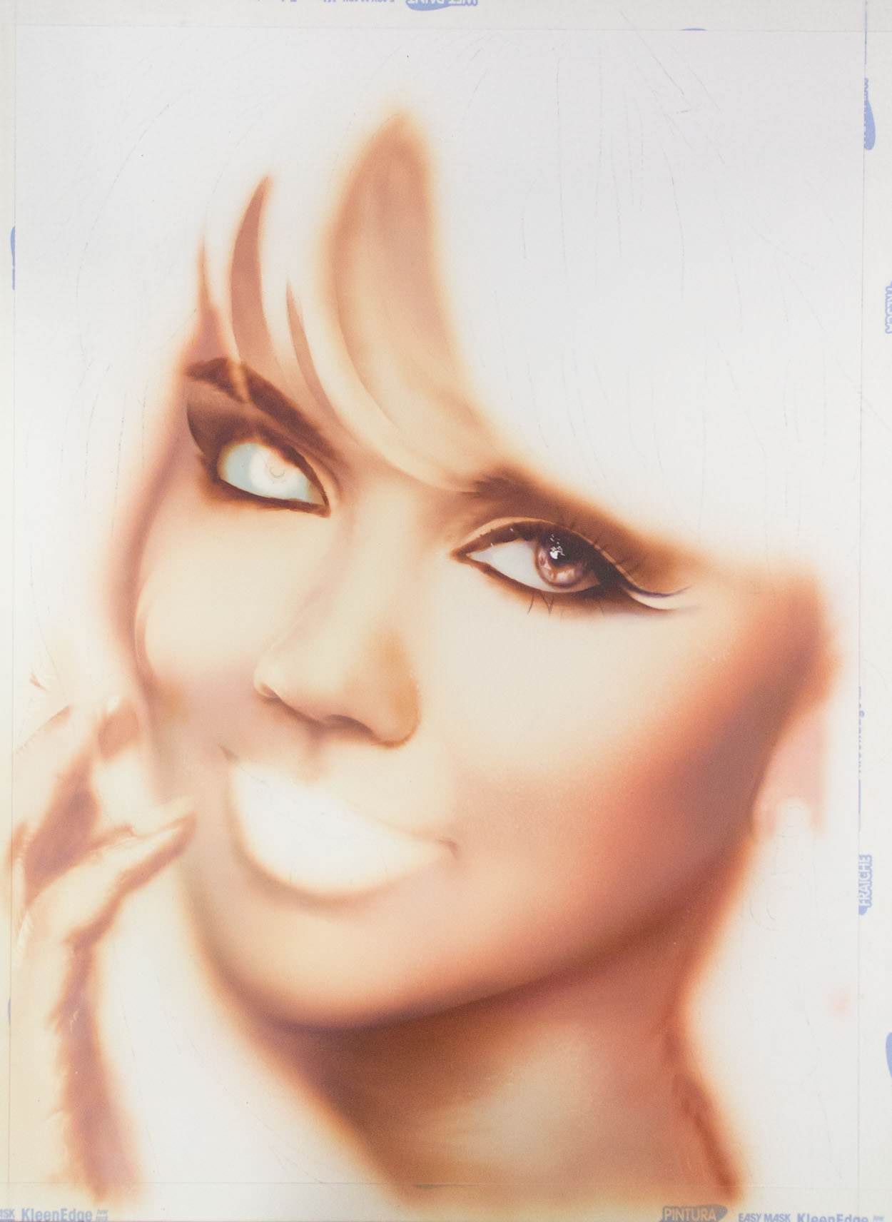 Airbrush portrait step 5