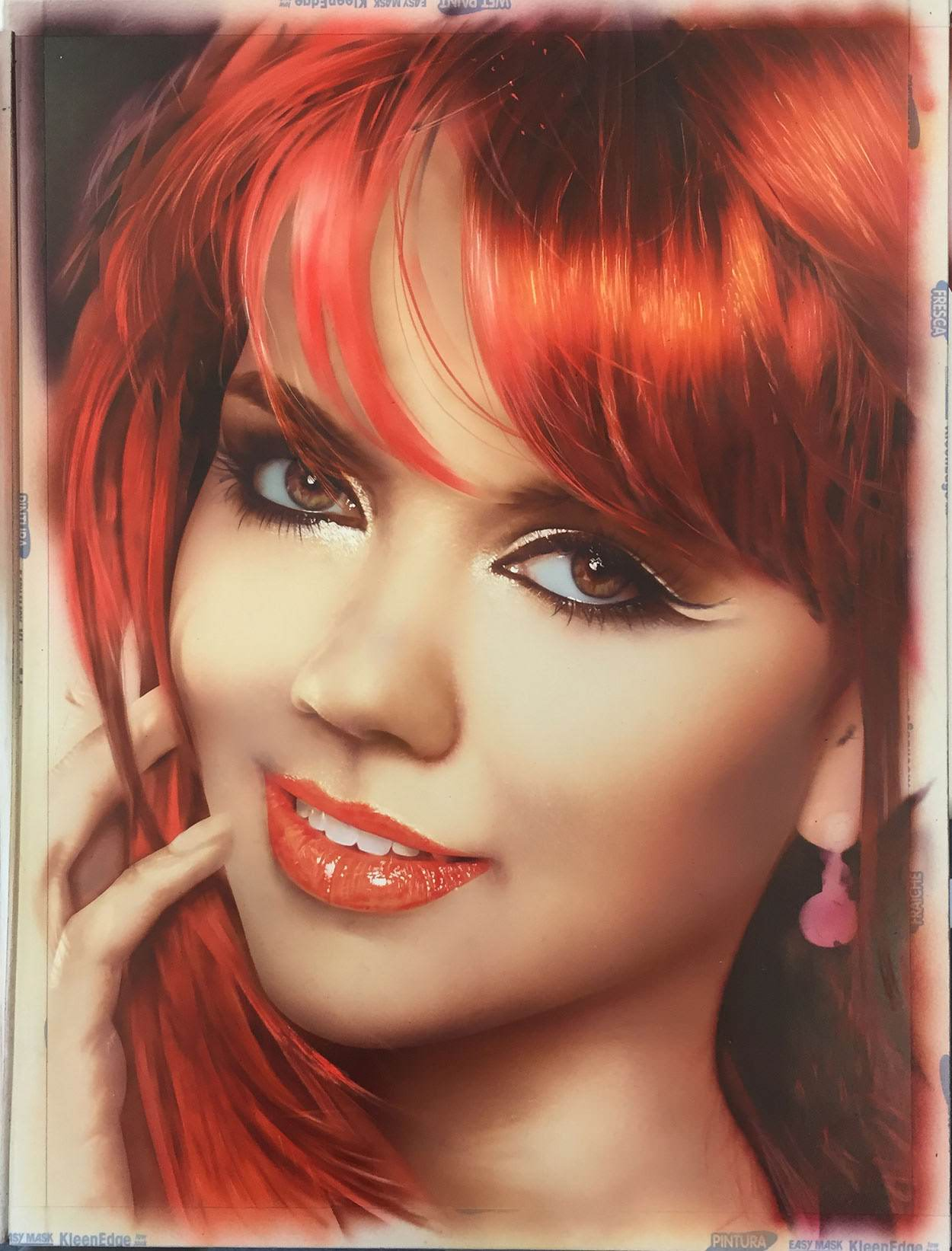 Airbrush portrait step 9